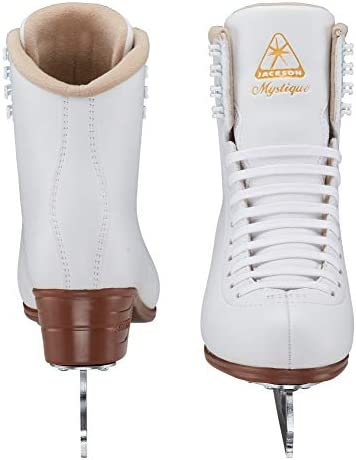 Jackson Ultima Mystique Figure Ice Skates for Women, Girls, Men, Boys in White and Black Colors – Improved, JUST LAUNCHED 2019