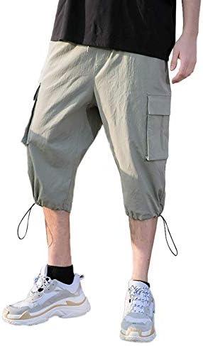 クロップドパンツ メンズ ひざ下 カーゴパンツ 夏 薄手 ショートパンツ カジュアル 902083