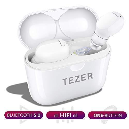 READ TEZER Bluetooth Headset Mini Ohrhörer 5.0 Wireless Headset Audio Headset, für iPhone XS 8 7s Samsung S8 + note8 s9+