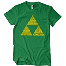 New THE TRIFORCE T Shirt Legend of Link Zelda Retro Gaming Tri Force Hyrule Tee