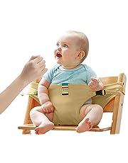 Lychee Vikbar bärbar matstol säkerhetsbälte säkerhetsbälte säkerhetsbälte spännesbälte för spädbarn och småbarn