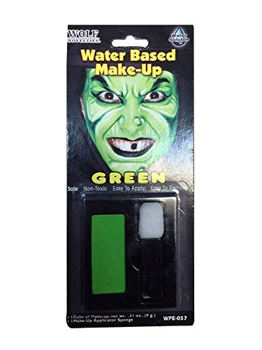 HALLOWEEN MAKEUP FACE PAINT VAMPIRE DEVIL WITCH ZOMBIE CLOWN SET KIT FAKE COLOUR[Green WaterMakeUp,] by ()