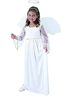 d37aa7eba Girls Angel Costume for Christmas Nativity Panto Fancy Dress Kids ...