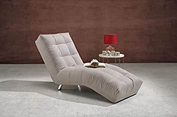 Cod.00773318 - Chaise Longue Isabella color sabbia: Amazon.it ...