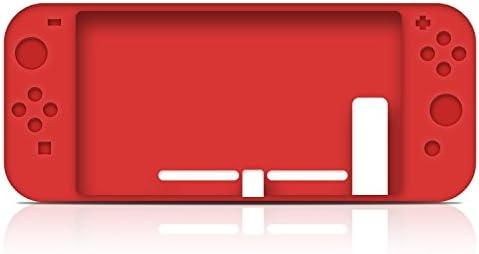 MaxKu Nintendo Switch Funda Protectora Carcasa/Caso/Case, Caja de Silicona Antideslizante de Esmerilado para Nintendo Switch. [Pieles de Caucho Flexibles duraderas y duraderas] (Rojo): Amazon.es: Electrónica