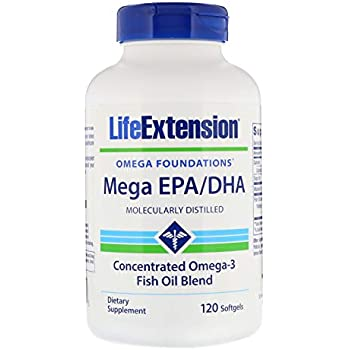 Life Extension Omega-3 Twice as much EPA & DHA as many commercial fish oils 120 softgels