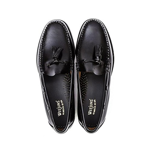 G. H. Bass Mens Weejuns Larkin Moc Tassle Black Leather Shoes 8.5 UK