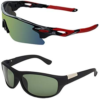 40bef118cf62 Zyaden Combo of 2 Sunglasses Sport and Wraparound Sunglasses- COMBO 2764   Amazon.in  Clothing   Accessories