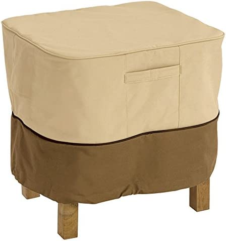Classic Accessories Veranda Ottoman Side Table Cover Large