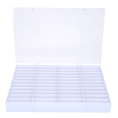 Nail Tips Storage Box, Empty Nail Tips Storage Box Clear Nail Art Decoration Container Fake Nail Display Case