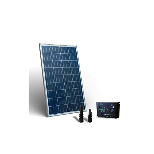 Solar Kit base 80W Solar Panel + Charge Regulator 5A - PWM PuntoEnergia Italia