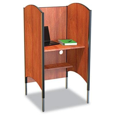 Balt - Height-Adjustable Carrel Laminate 31W X 30D X 57-1/2 To 69-1/2H Cherry ''Product Category: Office Furniture/Privacy Screens/Study Carrels''