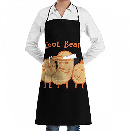 (Cooking Apron Cool Beans Hat Kitchen Apron With 2 Pockets,Customized Multipurpose)