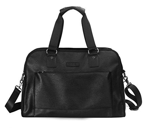 bolsa Messenger noche de de mujeres la GZ00329 diario Negro PU de uso fin Hombres de Gezu semana para maletín bolsa bolsa cuero viajes hombro EfE6wq