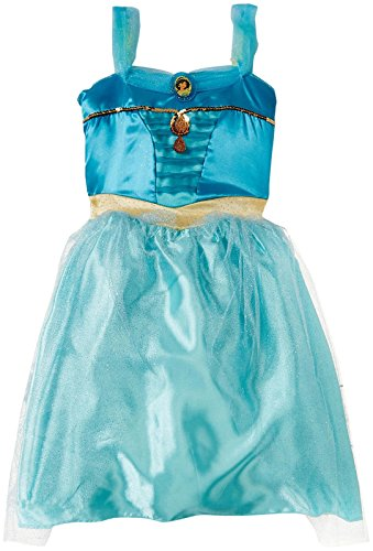 [Disney Princess 59562-AMZN Disney Princess Jasmine Bling Dress Costume] (Jasmine And Aladdin Costumes)