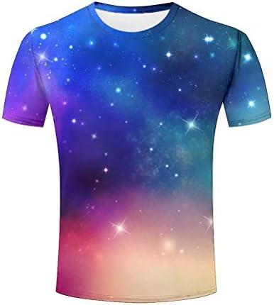 T-Shirts Hombre Estrellas Espacio Colorido Moda Carta Casual Impresa Manga Corta Camiseta Blusa: Amazon.es: Ropa y accesorios