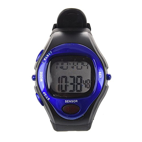 ON OFFER – Sports Exercise Fitness Watch – Blue – Heart Rate Pulse, Calories, Alarm clock, Day, Date and Stopwatch…