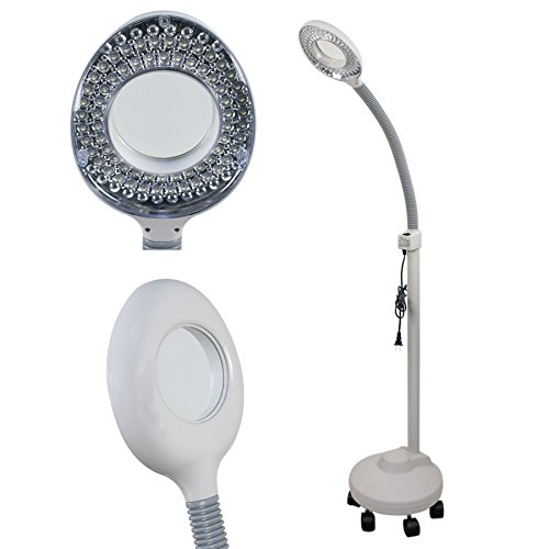 ZENY-Pro-Facial-Magnifying-Lamp-5x-Diopter-LED-Magnifier-Beauty-Facial-Light-W-Rolling-Floor-Stand-w-5-Wheels-DT-787