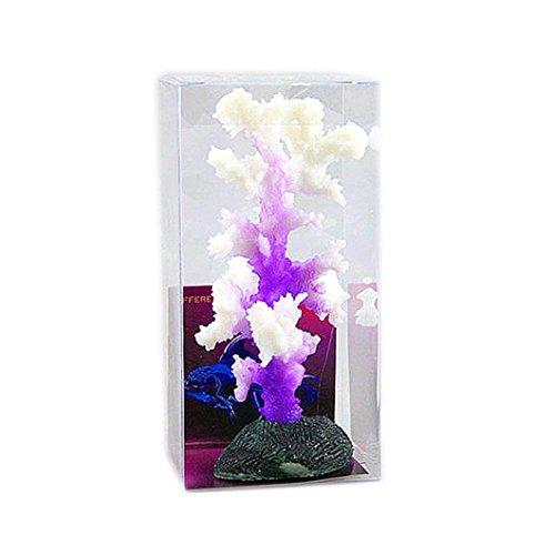 (Anshinto Aquarium Decoration, Artificial Coral for Fish Tank Resin Ornaments (Purple))