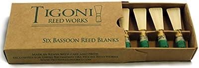 Tigoni Bassoon Reed Blanks (Six)