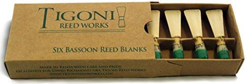 Tigoni Bassoon Reed Blanks (Six) (Hard) by Tigoni Reed Works