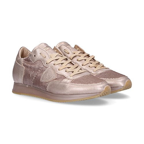 Baskets Cuir Rose Model TRLDYX10 Philippe Femme 1SqXOqP