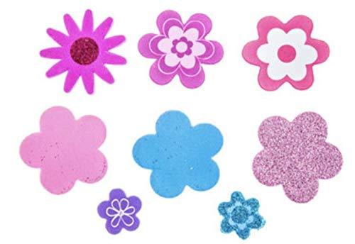 196 Piece Foam Flower Stickers