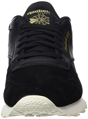Rbk Basses Schwarz Gold Brass Ash Sneakers Chalk Grey Brass Leather Black Classic Homme Ashgry Chalk Noir Black Reebok Alr qwITTY