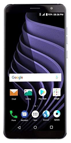 "ZTE Blade Max View Factory Unlocked (GSM + Verizon Wireless) 32GB Android Smartphone - 6"" edge-to-edge Screen - Black"
