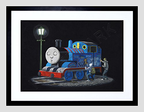 - Banksy Thomas Tank Engine Graffiti Street Art 12x16'' Framed Art Print F12x11875