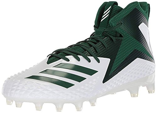 adidas Men's Freak X Carbon Mid Football Shoe, White Dark Green, 7 M US