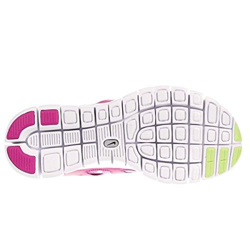 Nike Free Run 2 (gs) Löpande Tränare 477701 Gymnastikskor Fuschia Glöd Key Lime Fuschia Flash Vit 503