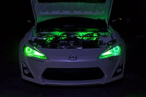 2013-2014 Hyundai Veloster Turbo Single-Color Standard Engine Bay LED Kit, Green