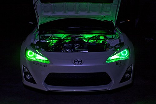 2005-2014-ford-mustang-california-special-single-color-standard-engine-bay-led-kit-green