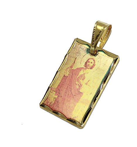 - San Judas Tadeo Medal - St Jude Thaddeus Pendant 18k Gold Platedl with 18 Inch Chain