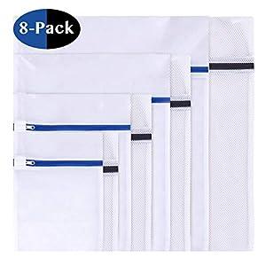 8-Stck-Wschenetz-Wschesack-Wschetasche-Set-Waschbeutel-fr-empfindliches-Bluse-Strumpfwaren-BH-Unterwsche-Socken-feinmaschig-grobmaschig-mit-Reiverschluss-8-set