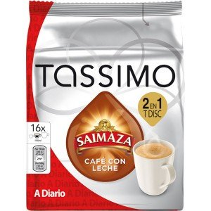 Tassimo Saimaza Café con Leche 16 unidades: Amazon.es: Alimentación y bebidas