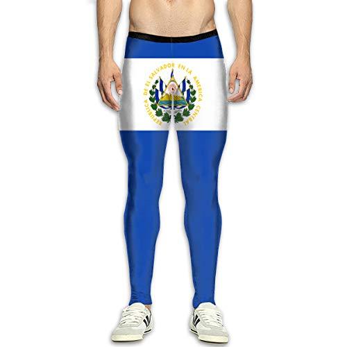 NUNOFOG Flag El Salvador Men's Joggers Sweatpants Tights Fitness Yoga Pants Leggings Trousers ()
