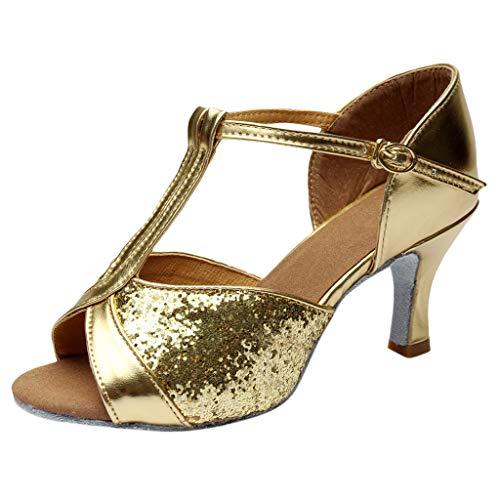 - YKARITIANNA Women's Color Fashion Rumba Waltz Prom Ballroom Latin Salsa Dance Shoes Sandals 2019 Summer Gold