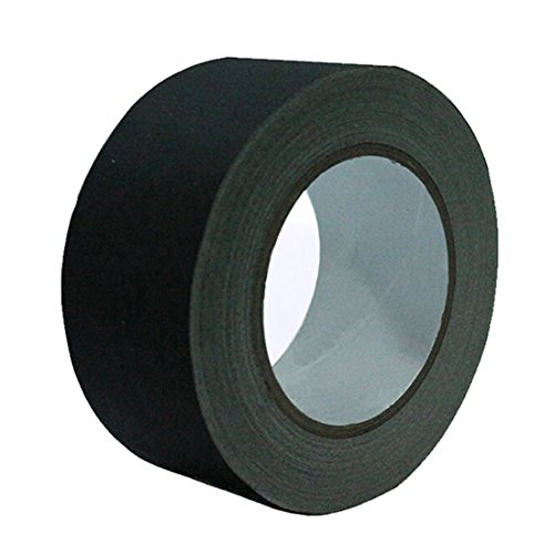 EONBON Gaffer Tape Black 2 Inch x 30 Yards, Heavy Duty Waterproof Gaffers Tape Cloth Self Adhesive Tape, Easy to Tear, Matte Non-Reflective Finish by EONBON