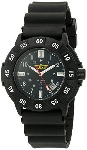 (Uzi Men's UZI-001-R Protector Swiss Tritium Black Dial Black Band Watch)