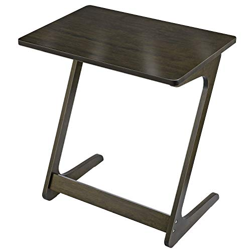 Tv Tray NNEWVANT End Table 100 Bamboo Sofa Table Tv Dinner Snack Tables Side Table for Sofa Couch, 17inch Laptop Writing Eating-Bronze