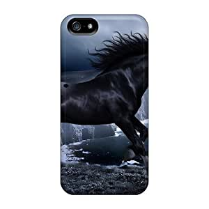 Iphone 5/5s Case Cover Horse At Night Case - Eco-friendly Packaging