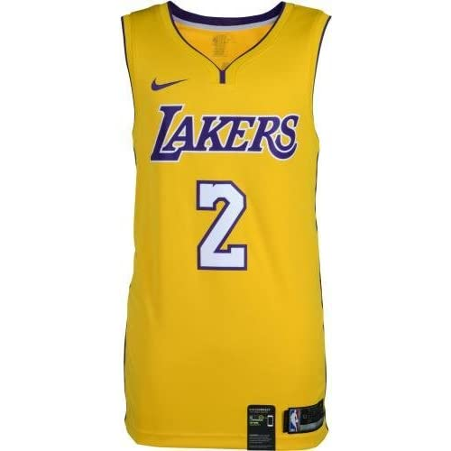 a106eb1af6b Framed Lonzo Ball Los Angeles Lakers Autographed Nike Gold Swingman Jersey  - Fanatics Authentic Certified