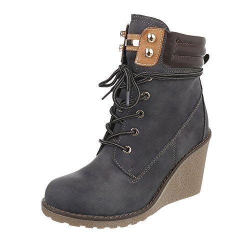 Chaussures femme Bottes et bottines CompensŽ Bottines compensŽes Ital-Design gris S122 5rE3q5b5w5