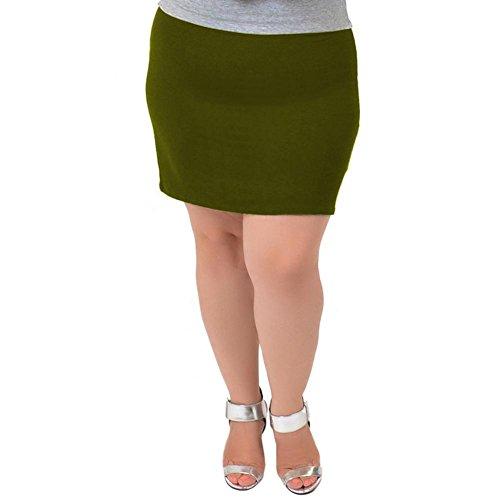 Olive Mini Skirt - 8