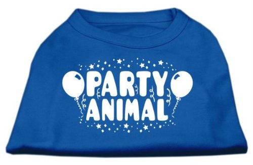 Mirage Pet Products Party Animal Screen Print Shirt Blue XXXL (20)