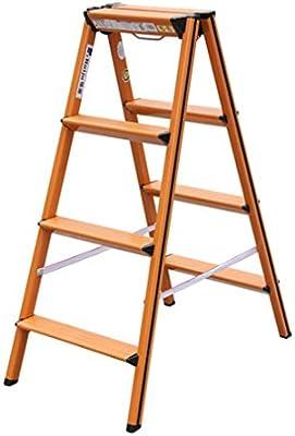 Qi Tai Escalera de Aluminio 4 Escalera Plegable Espiga hogar Almacén Escalera Escalera Plegable Escalera Plegable Stool Escalera Escalera telescópica (Color : Blanco): Amazon.es: Hogar