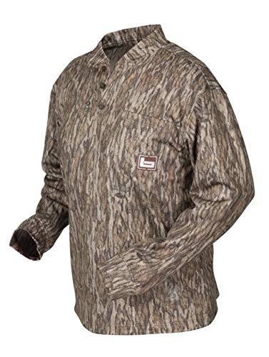 063a493a Banded B1030006-BL-S Tec Fleece Henley Shirt Bottomland, Small