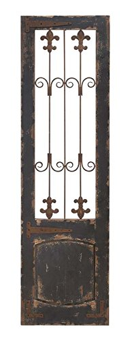 benzara wood metal wall decor